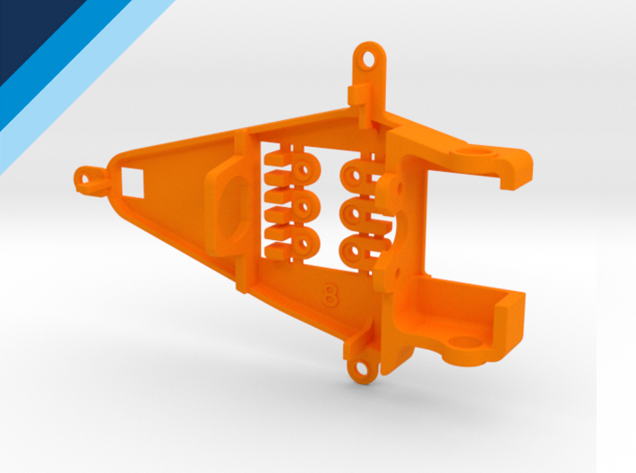 Bancada de motor Olifer inline caja corta, compatible con NSR - offset 0.8mm